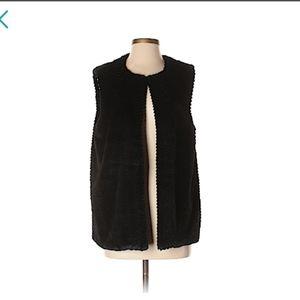 Talbots Faux fur Vest